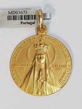Medalha Nossa Senhora de Fátima Coroada - Escultor João da Silva