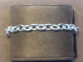 Pulseira prata de cadeado redondo 170/20 - PP