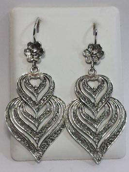 Brincos prata Coração de Viana 50