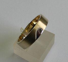 Aliança ouro bicolor 1/2 coração 5.8 - 3856