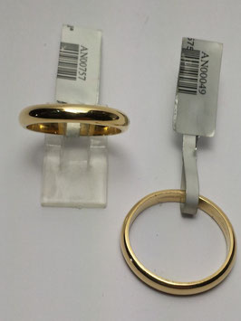Aliança ouro, 1/2 Cana 3x1,5mms - 14