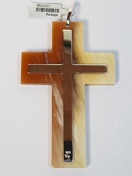 Cruz de Berço Osso e Cruz Prata - Top 34-82034
