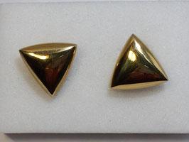 Botão de Punho Ouro - Triangular Mola