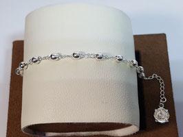 Dezena pulseira em prata de bolas 4mms - FM/34-84096
