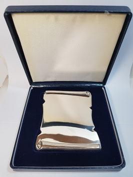 Pergaminho comemorativo em prata - JCC