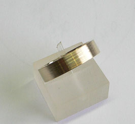Aliança ouro quadrada amendoada 5.1 - 350