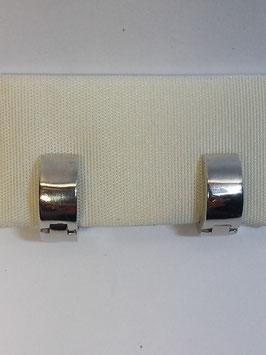 Brincos prata argolas lisas 5.10 - charneira