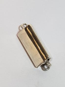 Fecho Colar Prata Tubo Triangular - FE00298
