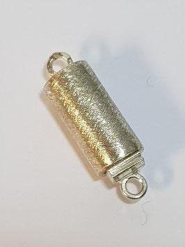 Fecho Colar Prata Cilindro Escovado - FE00116