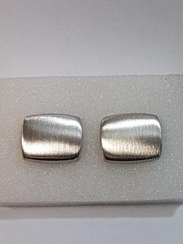 Botão de Punho Rectangular Escovado - RR