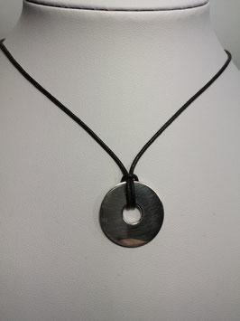 Medalha chapa lisa com buraco central