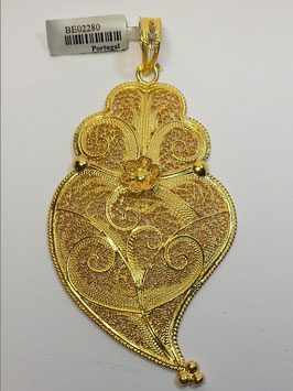 Coração de Viana de filigrana em prata dourada 70.85