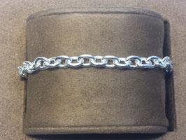 Pulseira prata de cadeado redondo 150 - PP