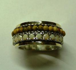 Aliança de Prata e Ouro - ANH1343