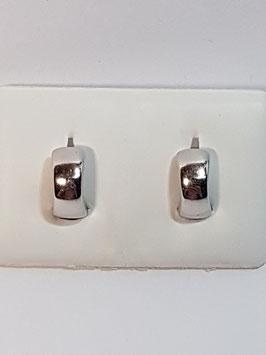 Brincos prata argolas lisas com charneira 10.4 - ST
