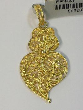 Coração de Viana de filigrana em prata dourada 37.27 - AN