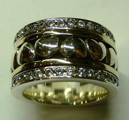 Aliança de Prata e Ouro - ANH1266
