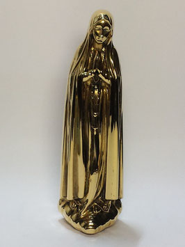 Nossa Senhora de Fátima em prata dourada TOP