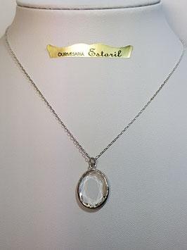 Fio de prata com zircónia oval - JPS