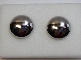 Botão de Punho Redondo Polido Abaulado - Ouro Branco