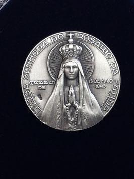 Capela Sra de Fátima Coroada 36mms Prata - Escultor