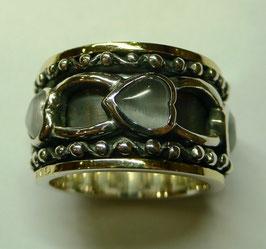 Aliança de Prata e Ouro - ANH1253