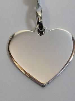 Coração Prata Chapa - Frontal PP