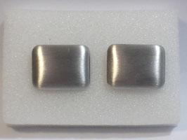 Botão de Punho Rectangular Escovado - PP