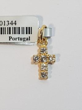 Cruz em ouro com zircónias 10.7 - MM
