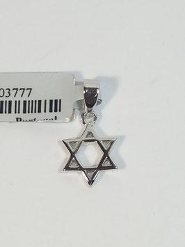 Estrela de David em prata - AUR