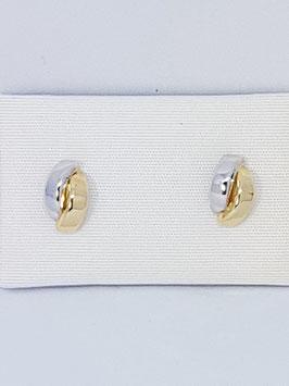 Brincos ouro bicolor tiras - OC
