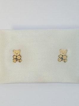 Brincos ouro ursinho 6,5 - OC