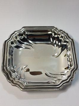 Taça Quadrada em Prata com Frisos - FM