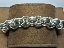 Pulseira prata de cordão grosso - PP / PS243.12
