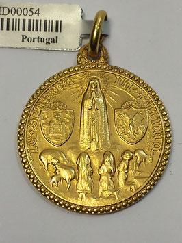 Medalha Nossa Senhora de Fátima Aparição - Escultor João da Silva