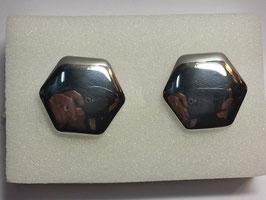 Botão de Punho Hexagonal Polido - PP