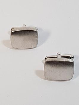 Botão Punho Rectangular Escovado Mola - RR