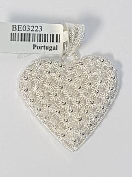 Coração de filigrana em prata, bolas 25 - DB