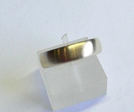 Aliança ouro amendoada escovada 5.4 - 455
