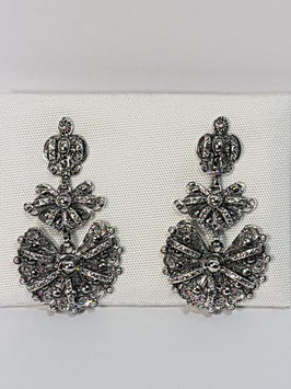 Brincos filigrana em prata coroa 32 - RR