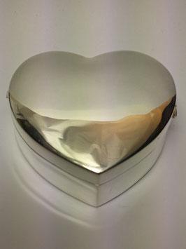 Caixa coração em prata - PP