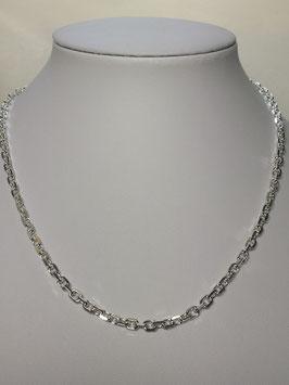 Fio Prata Malha Cadeado Lapidado - Grossura 120