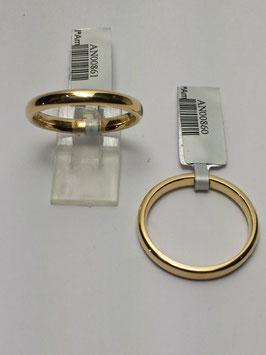 Aliança ouro, amendoada 2,5x1,5mms - 14