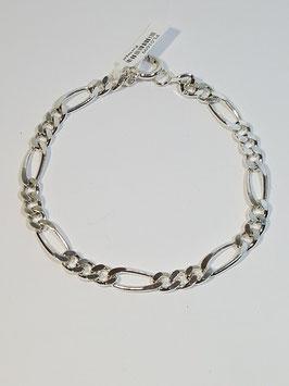 Pulseira prata 3+1 lapidada 160.21 - PP