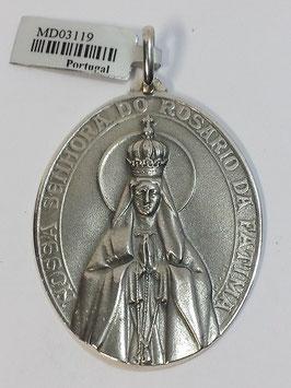 Medalha Nossa Senhora de Fátima Coroada - Oval PP