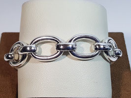 Pulseira prata de argolões ovais - PP / PS226