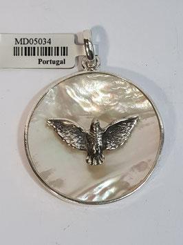 Medalha Prata Espírito Santo Madre-Pérola - ARK