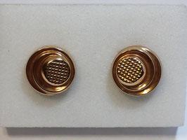 Botão de Punho Ouro - Redondo Circunferências CTª