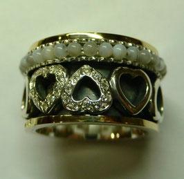 Aliança de Prata e Ouro - ANH1278
