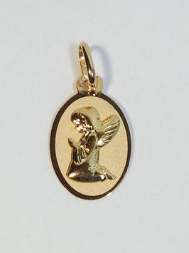 Medalha oval anjo joelhos - MM